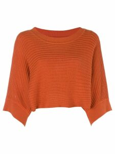 Issey Miyake Pre-Owned 80's cropped knitted blouse - Yellow