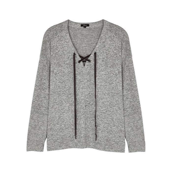 Rails Leigh Grey Knitted Sweatshirt