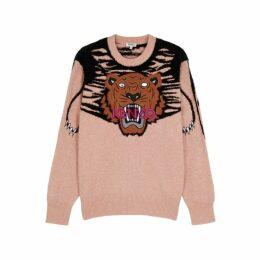Kenzo Blush Tiger-appliquéd Jumper