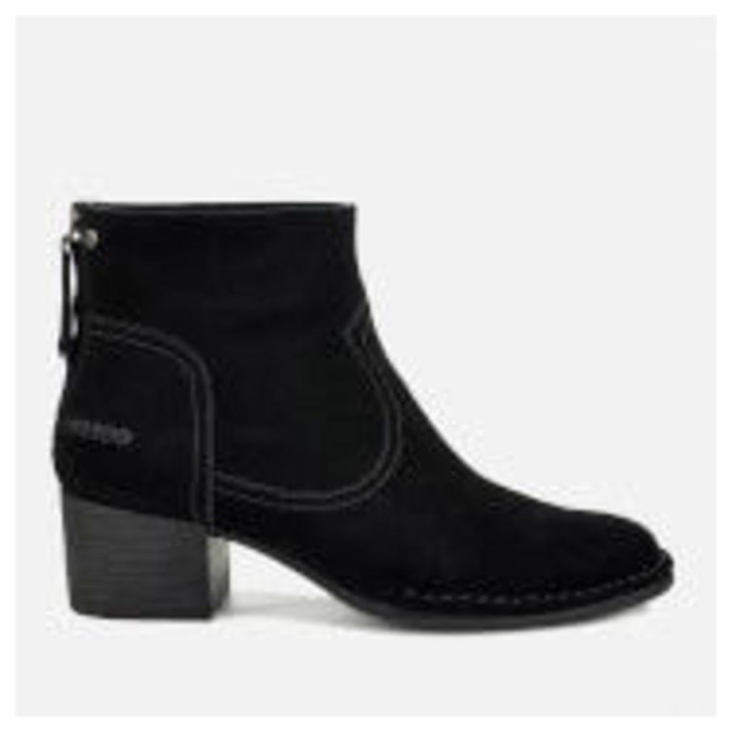 UGG Women's Bandara Suede Heeled Ankle Boots - Black