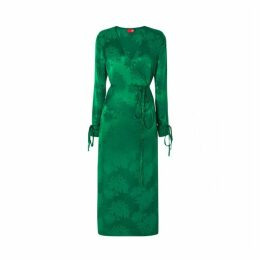 Kitri Odile Green Wrap Dress