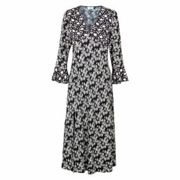 RIXO Esther Daisy-print Midi Dress