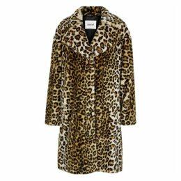 Stand Camille Leopard-print Faux Fur Coat