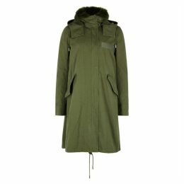 Yves Salomon Fur-trimmed Cotton Parka