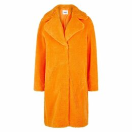 Stand Camille Orange Faux Shearling Coat