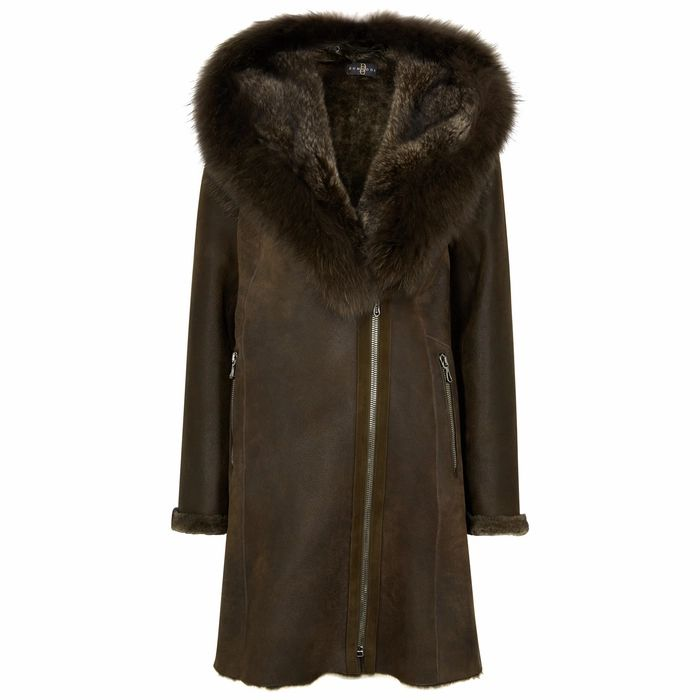 Dom Goor Army Green Shearling Parka
