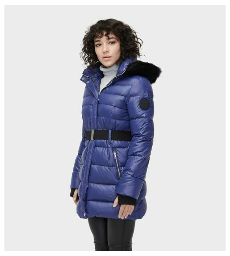 UGG Valerie Belted Down Coat Womens Outerwear Nocturn XS