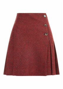 Holly Wool Skirt Red Charcoal 14