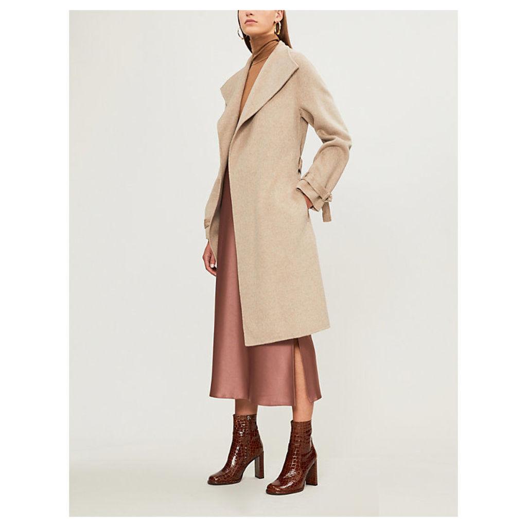 Joseph Womens Beige New Lima Wool and Cashmere-Blend Coat