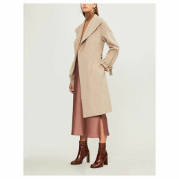 Joseph Womens Beige New Lima Wool and Cashmere-Blend Coat