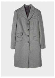 Women's Grey Wool And Cashmere-Blend Epsom Coat