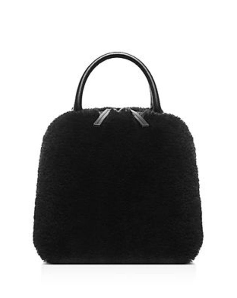 Vasic Madison Small Leather & Faux Fur Crossbody