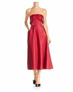 Sau Lee Viola Strapless Shimmer Dress