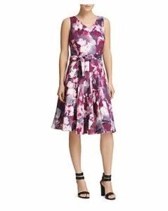 Donna Karan New York Floral Scuba Dress