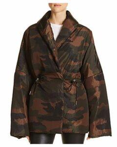 Divine Heritage Camo Puffer Coat