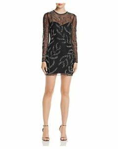 Aqua Embellished Illusion Dress - 100% Exclusive
