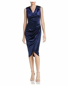 Adrianna Papell Draped Velvet Dress