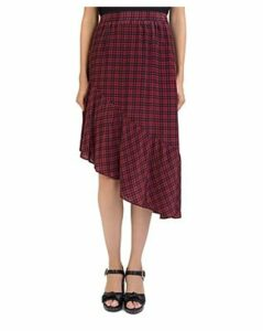 The Kooples Silk Plaid Asymmetric Skirt