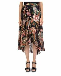 The Kooples Bollywood Floral-Print Skirt