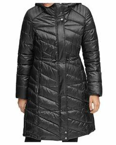 Marc New York Brookdale Velvet Trim Puffer Coat