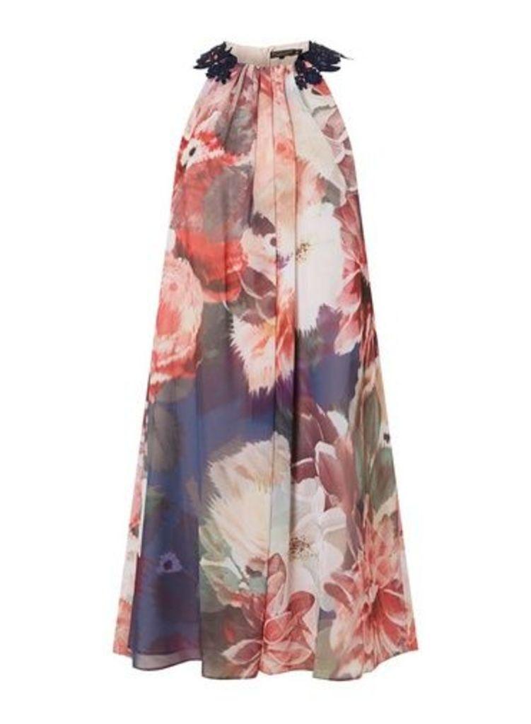 Womens **Showcase Navy 'Alanna' Floral Trapeze Dress- Fl Multi, Fl Multi
