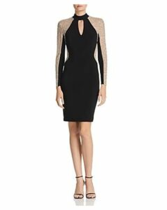Avery G Embellished Choker Dress