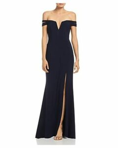 Aqua Off-the-Shoulder Gown - 100% Exclusive