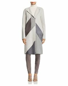Lafayette 148 New York Rue Mixed Media Patchwork Coat