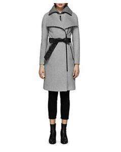 Mackage Nori Belted Wide Lapel Coat