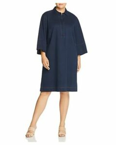 Lafayette 148 New York Plus Cara Denim Shirt Dress