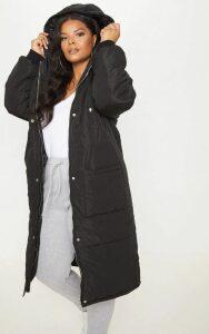 Plus Black Longline Puffer Coat, Black