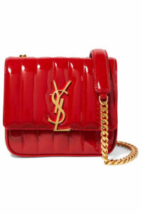 SAINT LAURENT - Vicky Small Quilted Patent-leather Shoulder Bag - Red