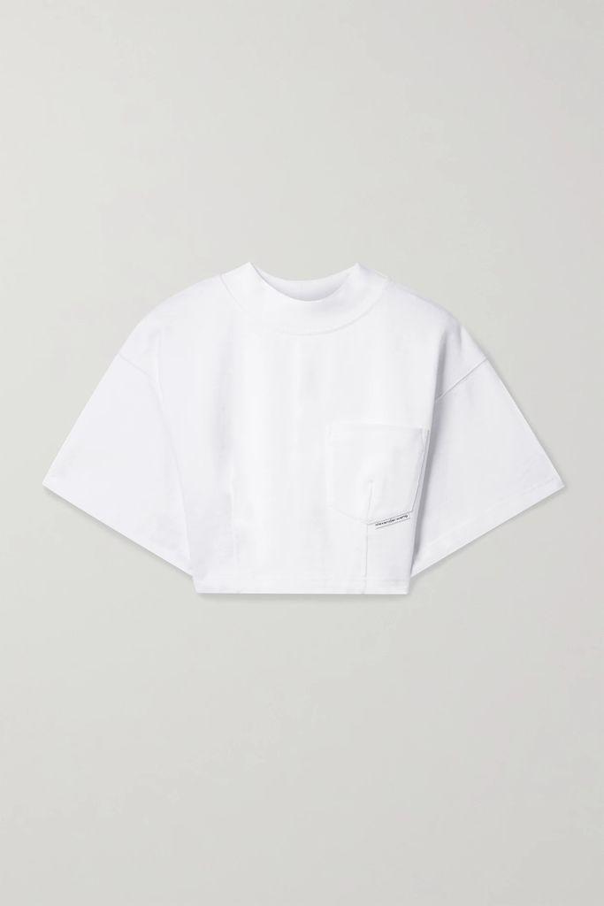 ALEXACHUNG - Wool And Cashmere-blend Felt Jacket - Black