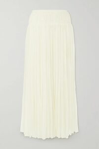 GANNI - Oversized Checked Silk And Wool-blend Blazer - Blue