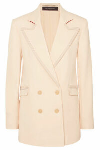 Roland Mouret - Gilroy Double-breasted Alpaca And Wool-blend Twill Blazer - Cream
