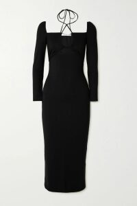 JW Anderson - Belted Houndstooth Wool And Cotton-blend Blazer - Brown