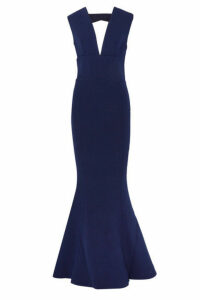 Rebecca Vallance - Mimosa Cutout Stretch-crepe Gown - Navy