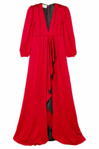 Gucci - Ruffled Hammered-satin Gown - IT38