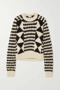 SAINT LAURENT - Cable-knit Wool-blend Sweater - Black