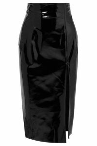 16ARLINGTON - Patent-leather Pencil Skirt - Black