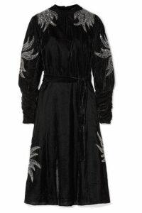 Dodo Bar Or - Josephine Sequin And Bead-embellished Velvet Midi Dress - Black