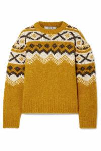 SEA - Fair Isle Knitted Sweater - Saffron