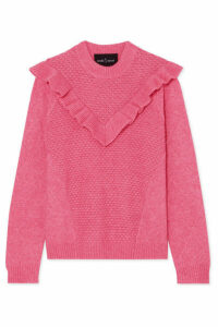 Needle & Thread - Ruffled Knitted Sweater - Pink