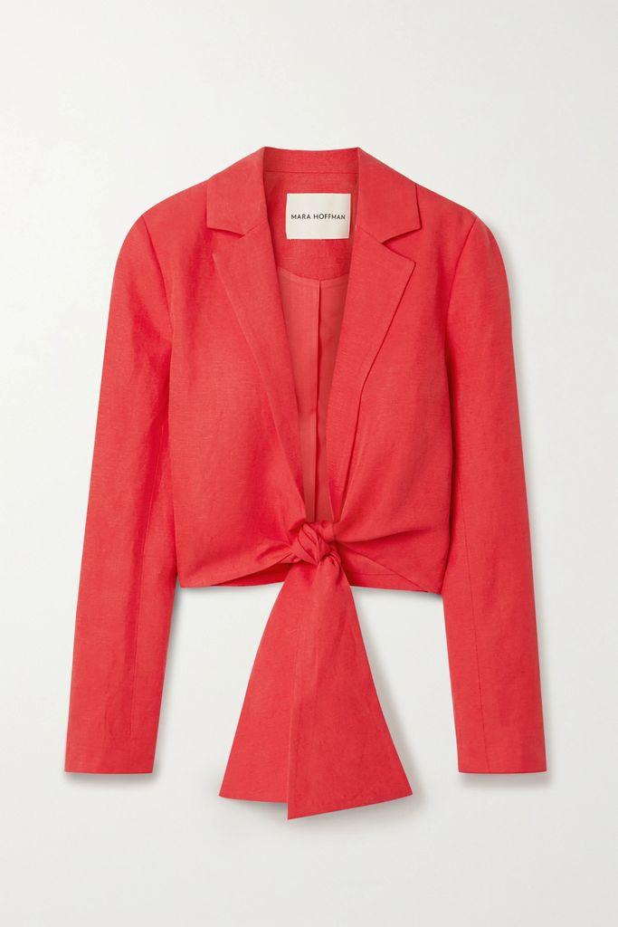 Fendi - Suede Midi Skirt - Red
