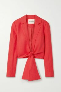 Fendi - Suede Midi Skirt - Red