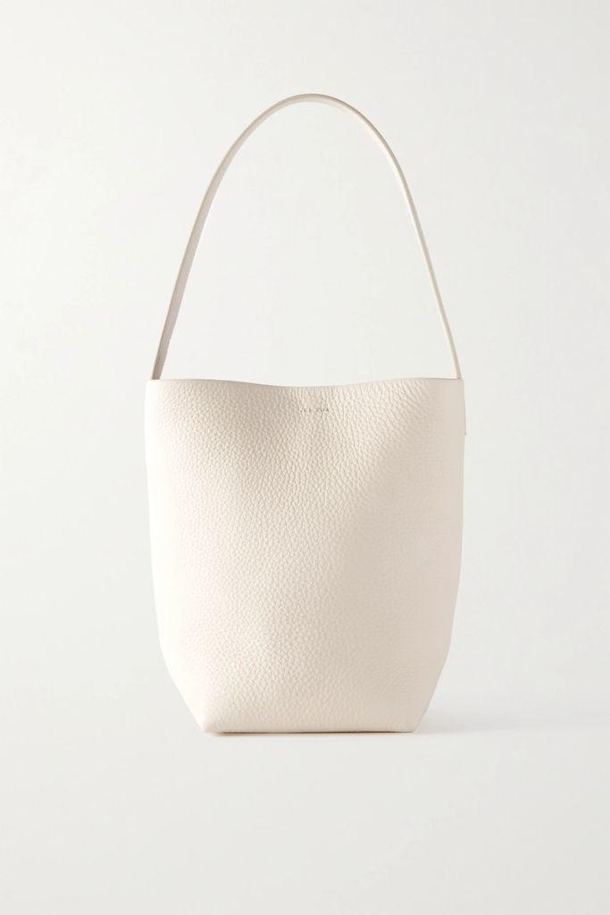 Fendi - Prince Of Wales Chiffon-trimmed Checked Glossed-wool Midi Skirt - Gray