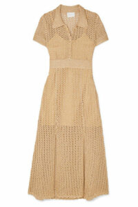 alice McCALL - Bijou Bijou Metallic Crochet-knit Midi Dress - Gold