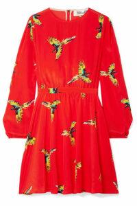 Diane von Furstenberg - Printed Silk Crepe De Chine Mini Dress - Red