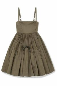 Molly Goddard - Phillipa Cotton-twill Mini Dress - Army green