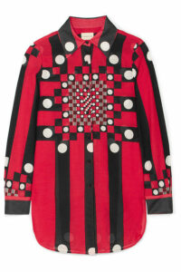 SIMON MILLER - Rowena Printed Silk And Cotton-blend Gauze Blouse - Red
